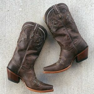 Vintage Look Tony Lama Cowboy Boots